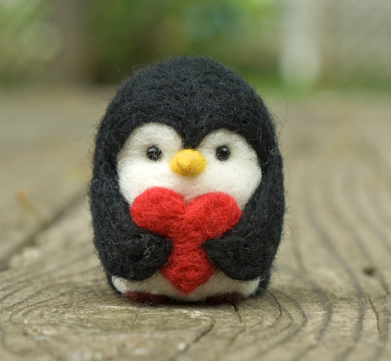 Needle Felted Penguin by Scratchcraft