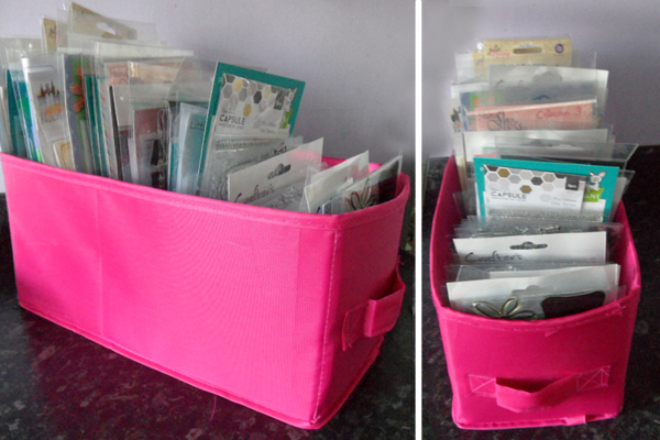 Simple stamp storage box