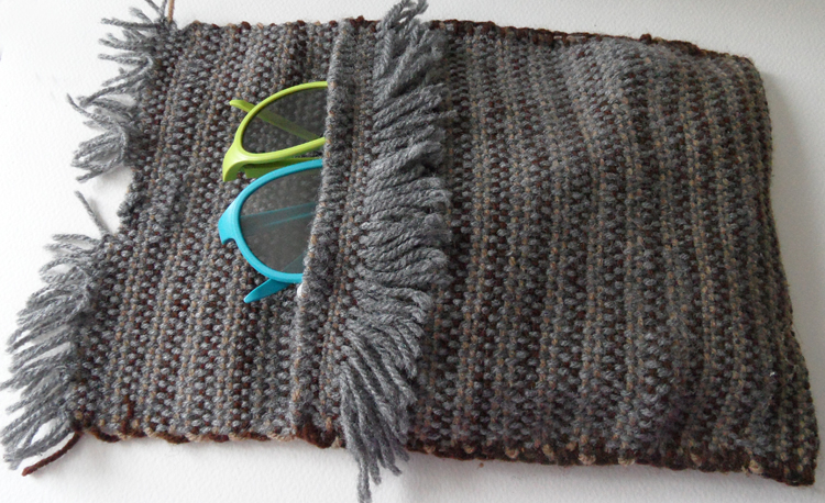 Pouch woven with 1950s Spears Weaving Loom