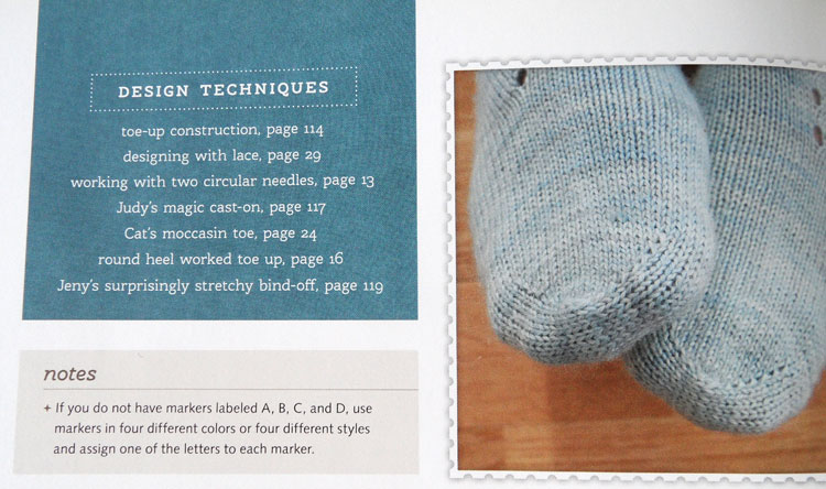 Close up of Sock Knitting Master Class
