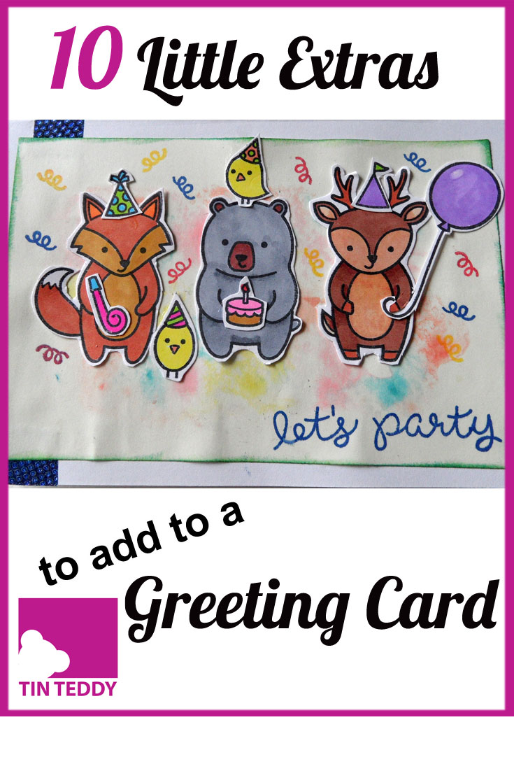 Here are 10 little extras you can pop in with a greeting card to make it even more special.  They are all lightweight, economical and fun!
