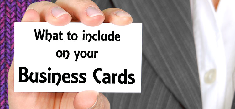 What to include on your busines cards