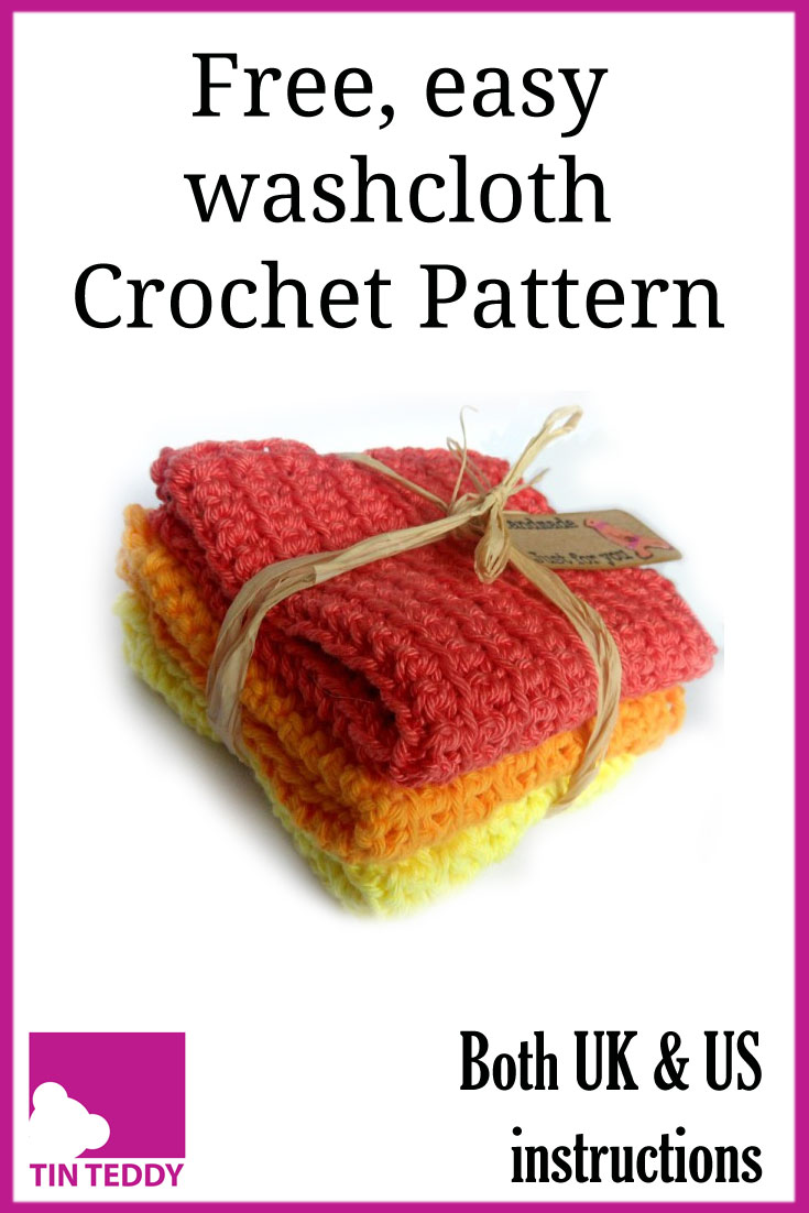 Crochet a long-lasting, attractive washcloth with this free and easy pattern from Tin Teddy - #crochet #pattern #free