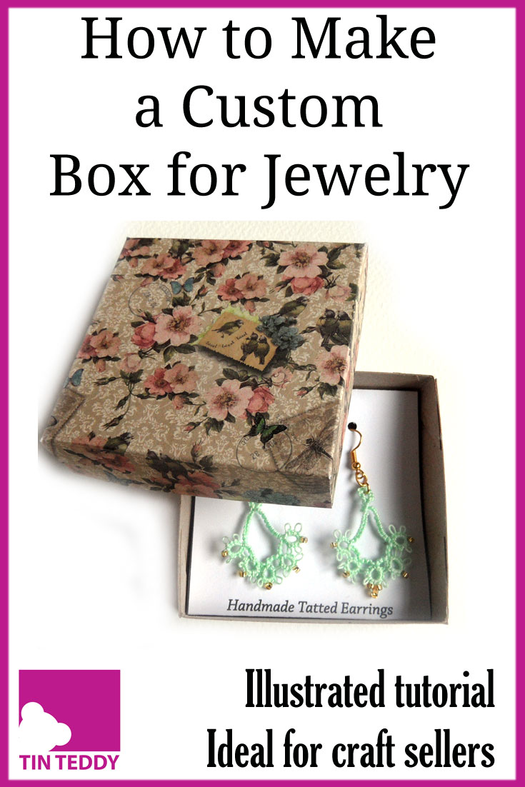 How to make your own custom sized boxes for jewelry and other small items.  Ideal for crafters and craft sellers.  #box #jewelry #craftseller #etsy #crafter