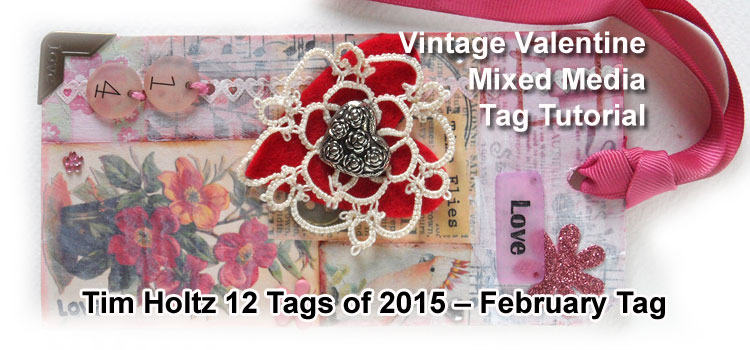 Vintage Valentine Tag - for Tim Holtz 12 Tags of 2015, February