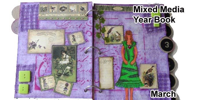 Mixed Media Year Book - March