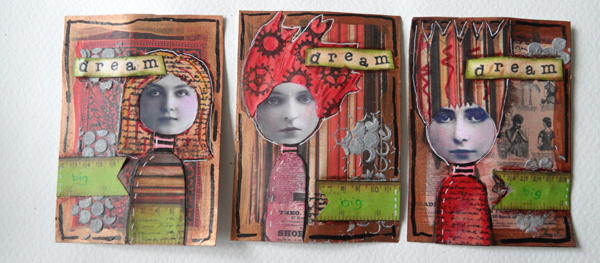 Mixed Media ATCs with Tin Teddy Inchie Photo Faces – Tutorial