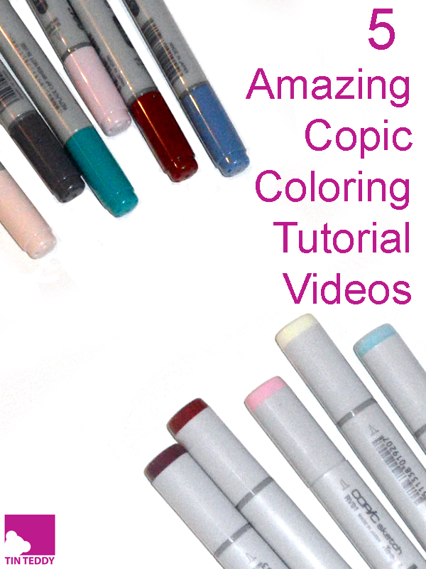 5 of my favourite coloring tutorials from some of the masters of Copic coloring.