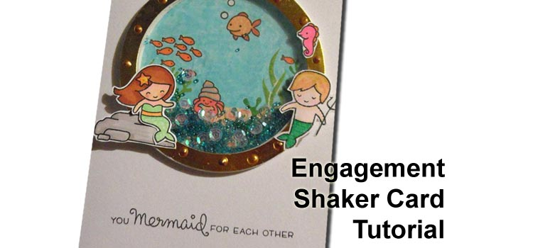 Mermaid Engagement Shaker Card