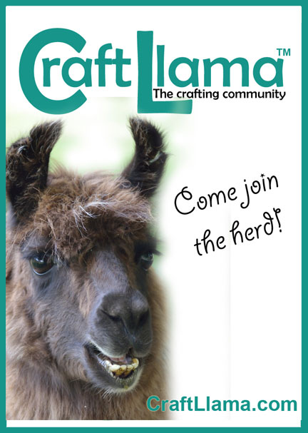Craft Llama - the crafting community.  All crafters welcome.  Totally free!