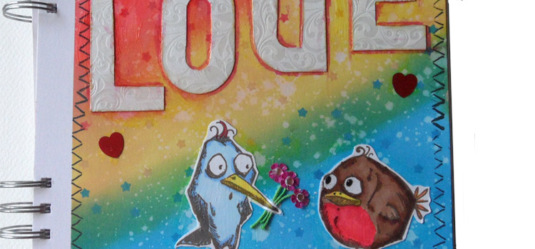 Love Birds – Mixed Media Monthly Challenge February – Tutorial