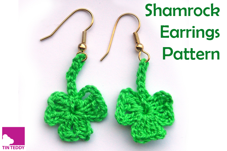 Tin Teddy Shamrock Earrings Pattern Free Pattern for St Patrick's Day