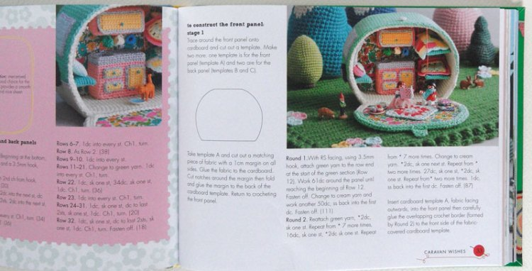 Cute crochet caravan pattern in Let's Go Camping by Kate Bruning