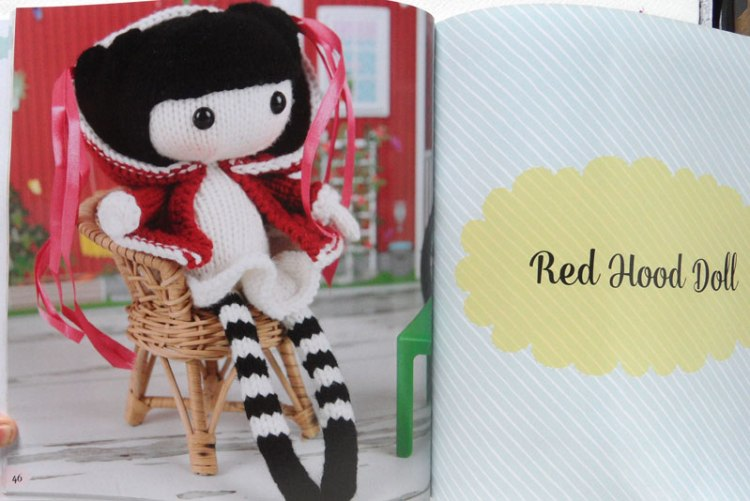 Knitted Toys by Tatyana Korobkova - red hood doll