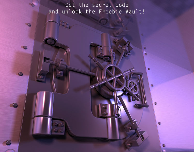Tin Teddy Freebie Vault - sign up to the Newsletter to get the secret code!