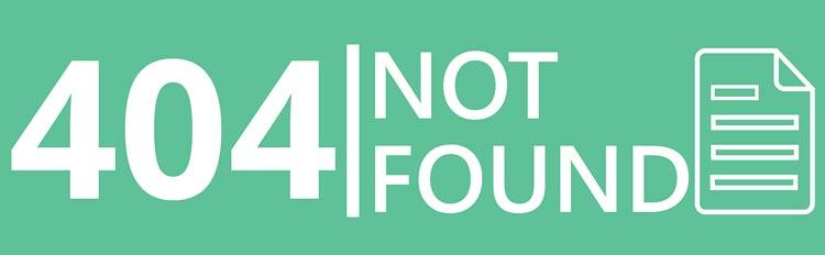 Error 404 = Page Not Found