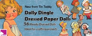 Tin Teddy Dolly Dingle 56 Paper Doll Clip Art Images