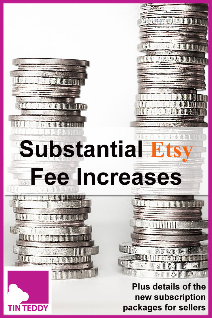 Etsy fee increases, including additional fees on shipping, have angered many sellers.  Details of the increases, plus the new subscription packages here.