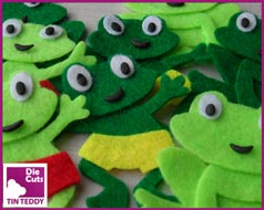 Tin Teddy Felt Frog Toppers