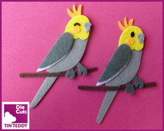 Tin Teddy Cockatiel Toppers