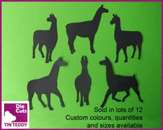 Tin Teddy Die Cuts Llama Silhouette Die Cuts