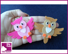 Tin Teddy Flying Owl Toppers