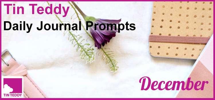December Tin Teddy Daily Journal Prompts