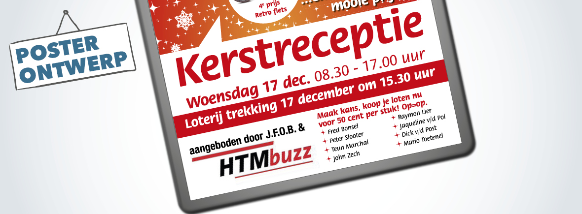 HTM Kerstreceptie poster