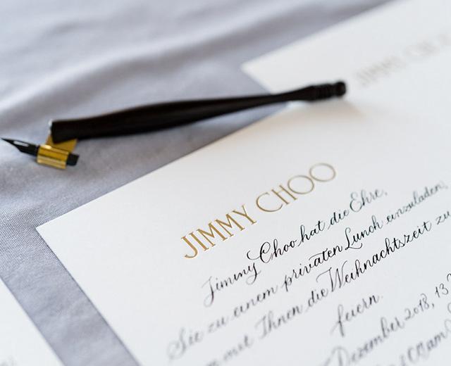 jimmy choo kalligraphie tintenfuchs