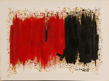 Composition in Red and Black by Tin Tin Sann