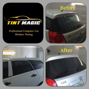Toyota Matrix window tinting at Tint Magic Window Tint Coral Springs