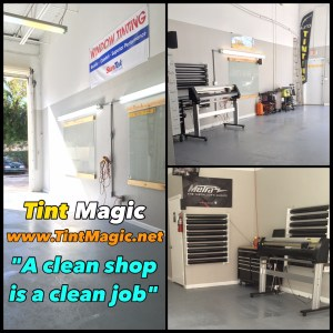 Tint Magic Window Tinting Work Area