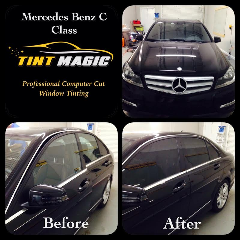 2012 to 2015 35/% Light Smoke Rear windows Pre cut window tint Mercedes C-Class Coupe