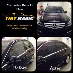 Mercedes Benaz C Class at Tint Magic Coral Springs