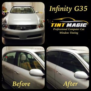 Infinity G35 at Tint Magic Coral Springs
