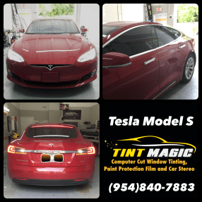 Tesla Model S at Tint Magic Window Tinting Coral Springs
