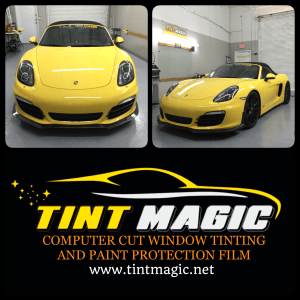 Porsche Boxter at Tint Magic Window Tinting Coral Springs