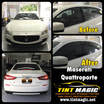 Maserati Quatroporte at Tint magic Window Tinting Coral Springs