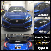 Honda Civic Hatchback at Tint Magic Window Tinting Coral Springs