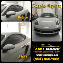 Porsche Cayman at Tint Magic Window Tinting Coral Springs