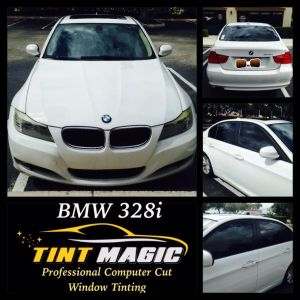 BMW 328 at Tint Magic Window Tint Coral Springs