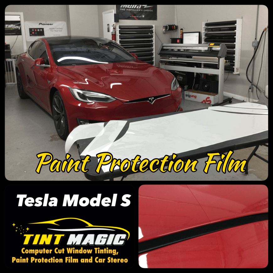 Tesla Model S Paint Protection Film at Tint Magic Window Tinting Coral Springs