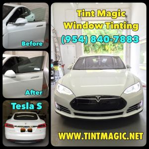 Tesla S at Tint Magic Window Tinting