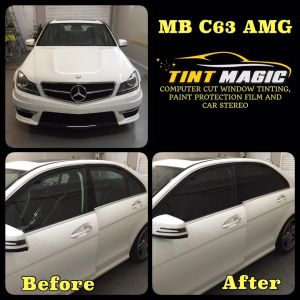 Mercedes Benz C63 amg at Tint Magic Window Tinting Coral Springs