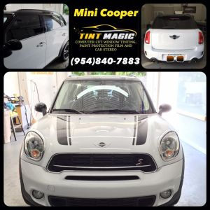 Mini Cooper Countryman at Tint Magic window Tinting Coral Springs