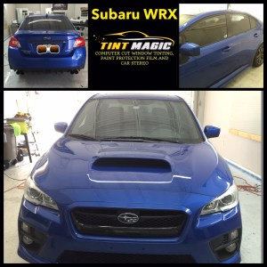 Subaru WRX at Tint Magic Window Tinting