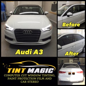 Audi A3 at Tint Magic Window Tinting Coral Springs