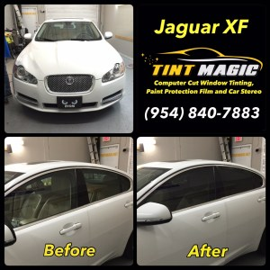 Jaguar XF at Tint Magic Window Tinting