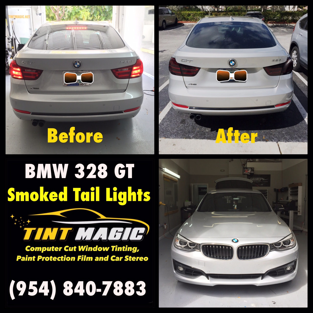 Coconut Creek Bmw: BMW 328GT At Tint Magic Window Tinting Smoked Tail Lights