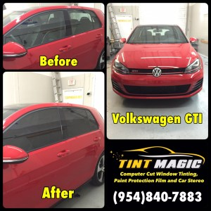 Volkswagen GTI at Tint Magic Window Tinting